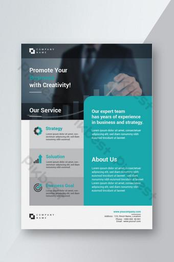 Espace de mise en page de conception Corporate Flyer pour modèle de fond photo au format A4 Modèle AI