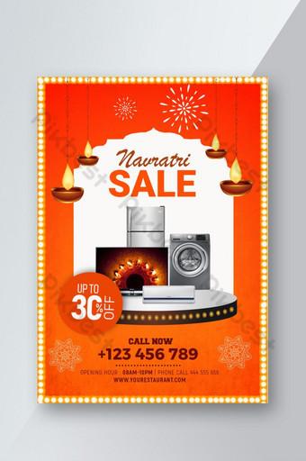 folleto de venta festiva electrónica navratri psd Modelo PSD