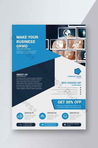 conception de flyers commerciaux simples créatifs Modèle PSD
