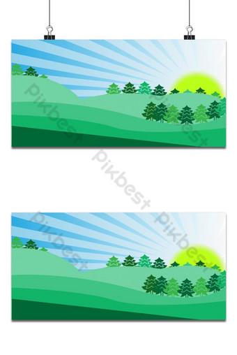 verde la naturaleza con sol naciente cielo Fondos Modelo PSD