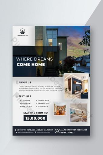 Modèle de Flyer immobilier dans Photoshop Modèle PSD