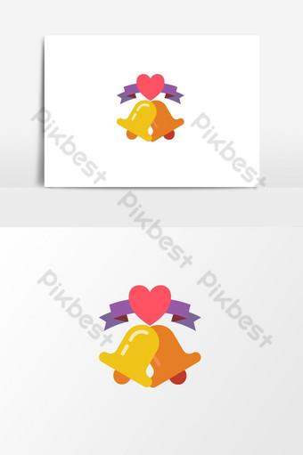 campana de boda creativa e impresionante para el diseño gráfico de amor Elementos graficos Modelo EPS