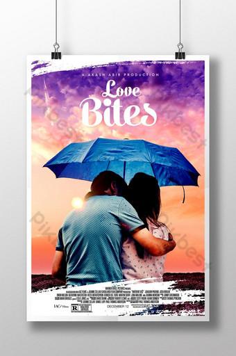 diseño de carteles de películas de amor Modelo PSD