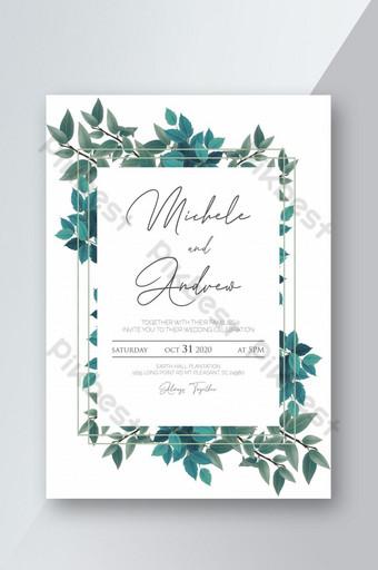 أوراق قابلة للطباعة قالب دعوة زفاف قالب PSD