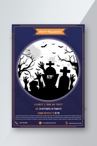 Modèle de Flyer de fête d'halloween effrayante Modèle AI