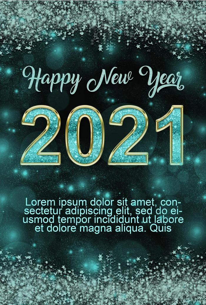 Happy New Year 2021 Poster Template Psd Free Download Pikbest