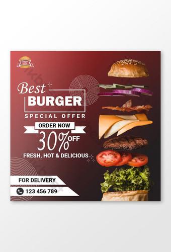 mejor banner publicitario de redes sociales de hamburguesas Modelo AI