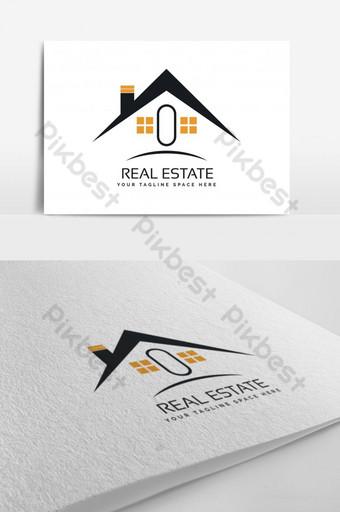 Vecteur de logo immobilier commercial utilisable Modèle AI
