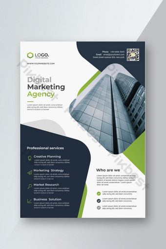 dépliant d & # 39; agence commerciale moderne Modèle PSD
