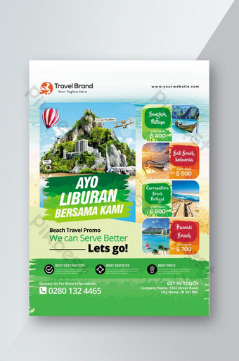 Printable Tour and Travel Flyer Promotion Template PSD