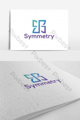 s letras logo e icono de la aplicación Modelo PSD