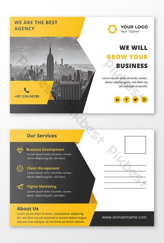 Conception de cartes postales d'entreprise Photoshop Modèle PSD