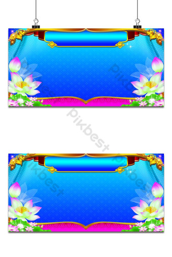 thai art luxury templo background pattern na dekorasyon para sa pag-print Background Template PSD