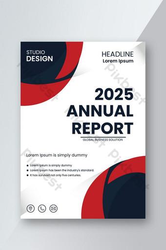 Conception de flyer authentique pour le rapport annuel Modèle AI