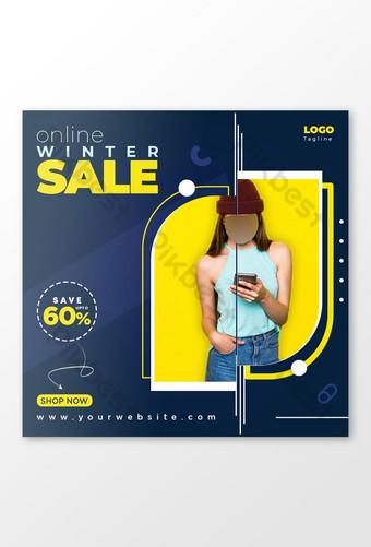 Online New Season Fashion Sales Banner Social Media Post Template Design Template PSD