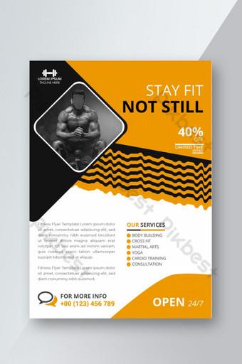 Modèle de flyer et affiche de centre de gym Modèle EPS