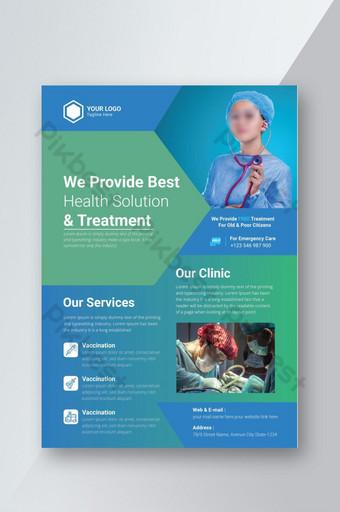 Medical Flyer design template health care service design Template EPS