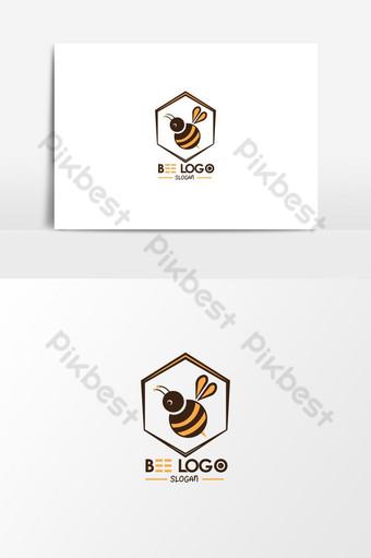 elemento gráfico de diseño de logotipo de abeja creativa Elementos graficos Modelo EPS