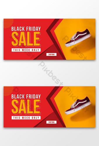 الجمعة السوداء عطلة نهاية الأسبوع عرض قالب بيع لافتة قالب AI