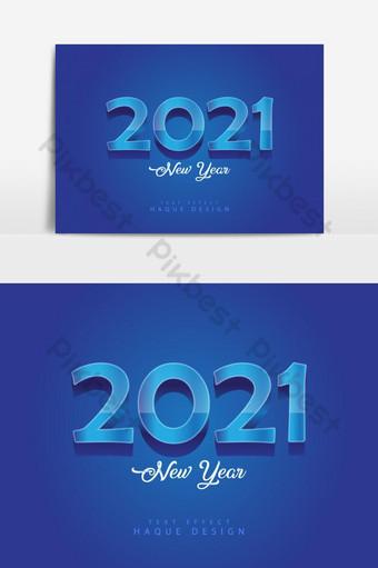 Contexte de 2021 illustrations de bonne année de chiffres 3d bleus numéros 3D vecteur Éléments graphiques Modèle AI