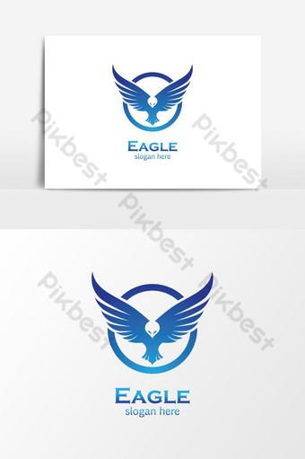 Disenyo ng paglalarawan ng mga imahe ng logo ng agila Imahe ng PNG Template AI