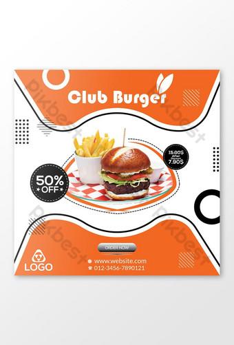 Banner publicitario de Club Burger Modelo AI