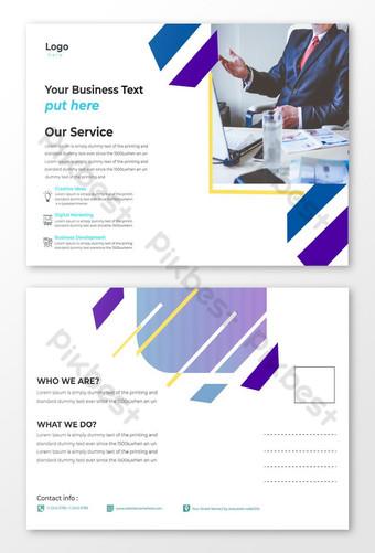 conception de modèle de carte postale d'entreprise moderne standard Modèle AI