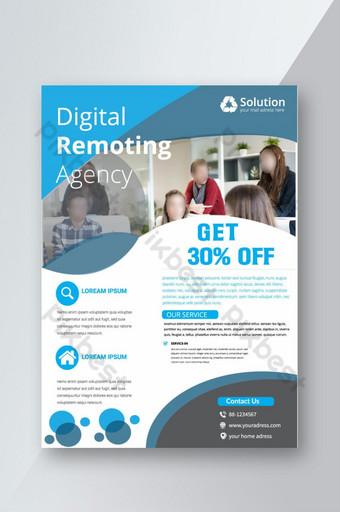 Modèle de flyer d'agence de communication numérique créative avec photo Modèle AI