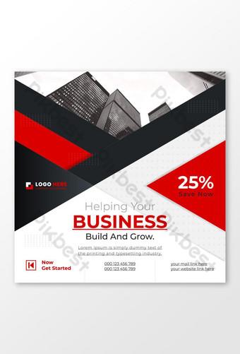 Diseño de banner publicitario de publicación en redes sociales para banner web de marketing de negocios corporativos Modelo AI