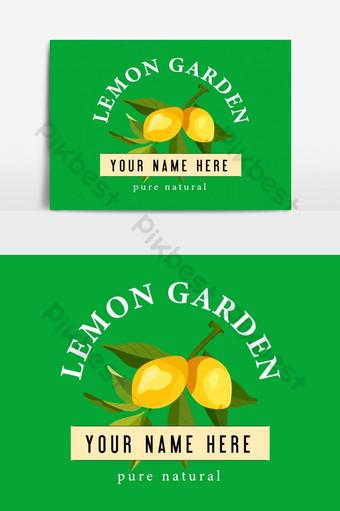 banner publicitario de frutas naturales diseño publicitario de jardín de limón Elementos graficos Modelo EPS