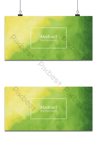 Fondo abstracto suave textura acuarela amarillo y verde Fondos Modelo EPS