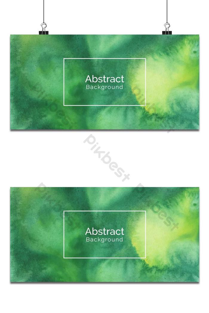 latar belakang tekstur cat air hijau yang dilukis dengan tangan
