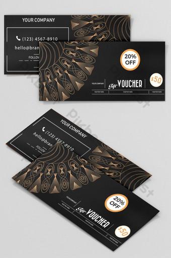 modèle de bon cadeau bannière conception de carte de coupon Modèle AI