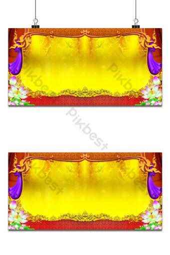 Maganda ang background ng pattern ng thai Background Template PSD