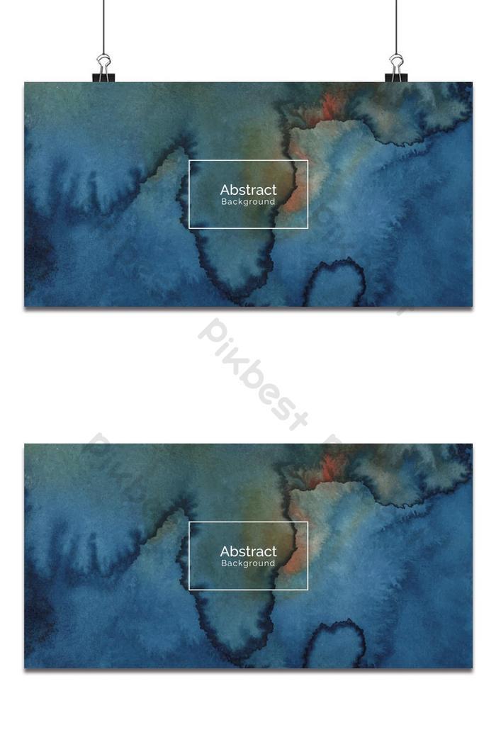 latar belakang tekstur cat air biru yang dilukis dengan tangan