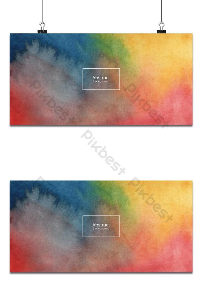 tekstur latar belakang reka bentuk cat air berwarna-warni