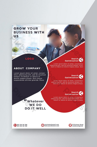 New design corporate poster flyer Template PSD