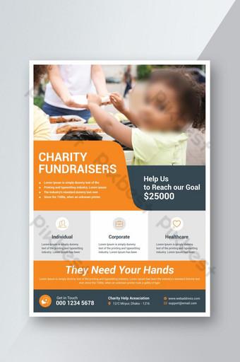 Conception de modèle de flyer de charité Modèle PSD