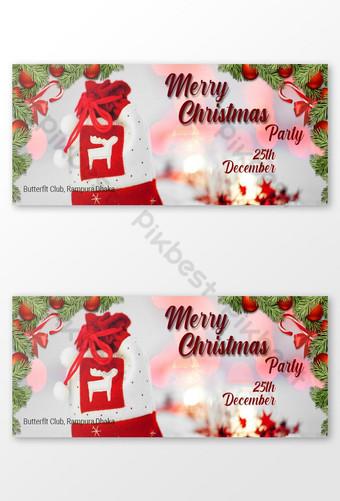 selamat natal gambar sampul facebook Templat PSD