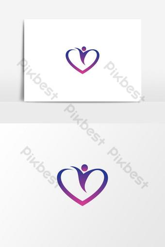 Diseño de ilustración de imágenes de logotipo de amor Elementos graficos Modelo AI