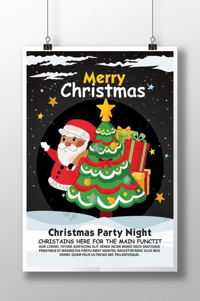 thiết kế poster tiệc mừng lễ giáng sinh