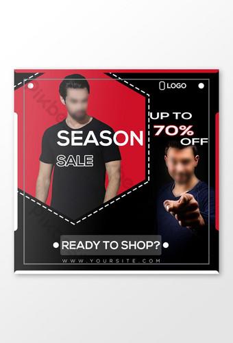 Season Sale Outstanding Social Media Banner Design Template PSD