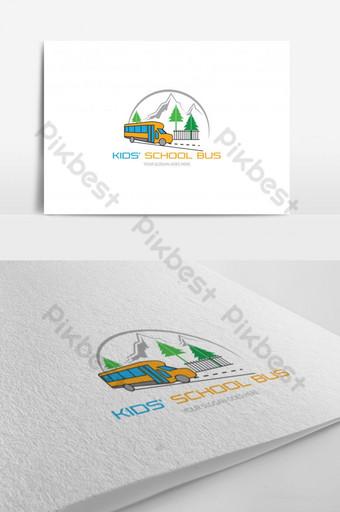 Plantilla de diseño de logotipo de autobús escolar para niños Modelo AI