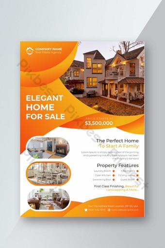 Immobilier abstrait moderne ou modèle de vecteur de conception flyer promotion vente à domicile Modèle AI