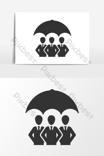 Employee security icon. employee insurance PNG Images Template EPS