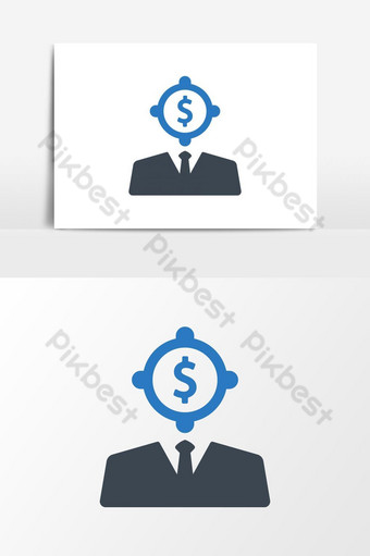 Business Vision, opportunity, future Icon PNG Images Template AI