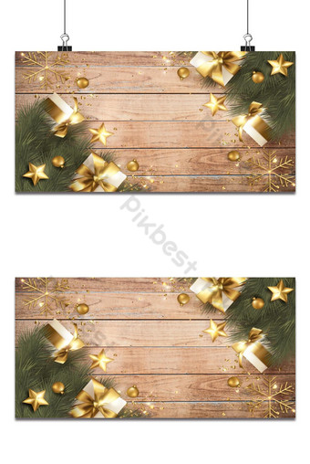 Carte de voeux joyeux Noël avec décoration de Noël réaliste Fond Modèle AI