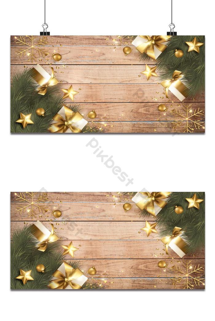 thiệp chúc mừng giáng sinh vui vẻ với trang trí giáng sinh thực tế
