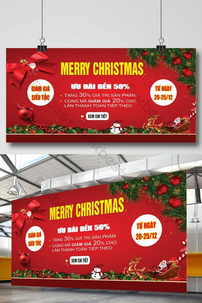 poster merry christmas giáng sinh vui vẻ khuyến mãi lớn