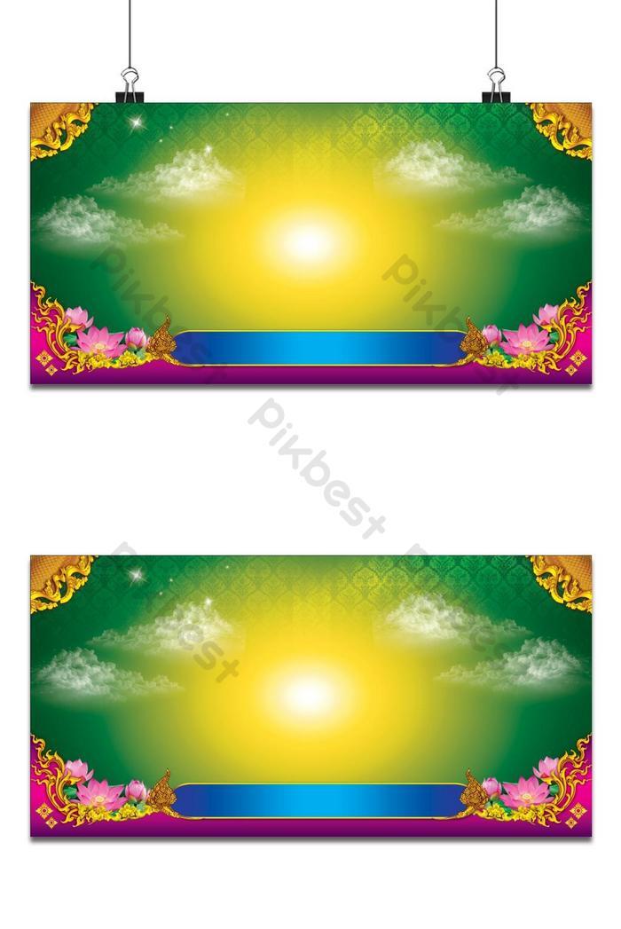 latar belakang corak thai hijau
